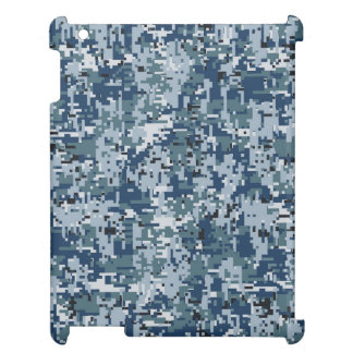 Navy Blue Digital Camouflage Design Case For The iPad