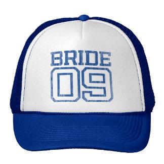 Navy Blue Distressed Bride 09 Baseball Cap Trucker Hat