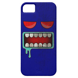 Navy Blue Drooling Red-Eyed Monster Face iPhone SE/5/5s Case