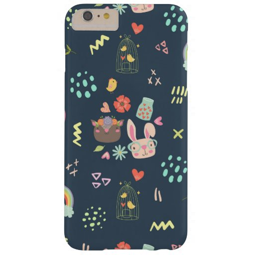 Navy Blue Easter Bunny Barely There iPhone 6 Plus Case