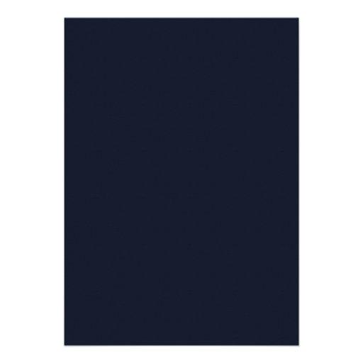 Navy Blue Elegant Monogram Graduation Announcement (back side)