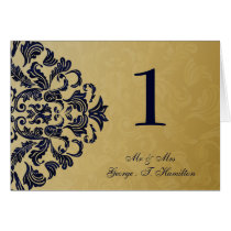 """navy blue"" Elegant table seating card"