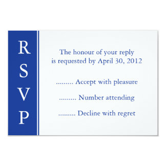 Navy Blue Event Reply or RSVP Card Invites