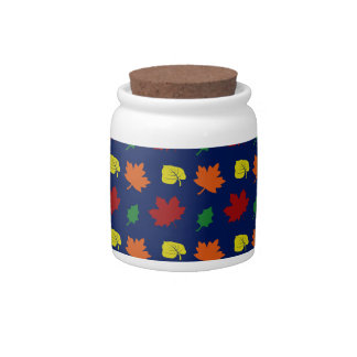 navy blue fall leaves candy jars