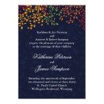 "Navy Blue Fall Wedding 5"" X 7"" Invitation Card"