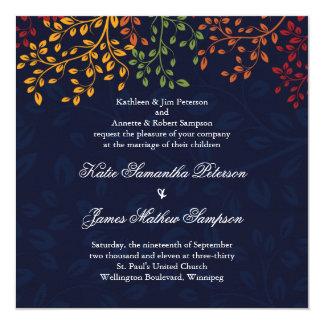Navy Blue Fall Wedding - Custom Colours Card