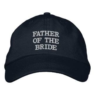 Navy Blue Father of the Bride Adjustable Hat Embroidered Hats