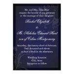Navy Blue Flourish Custom Invitations