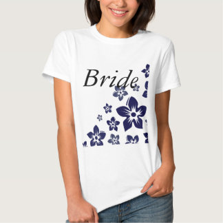 navy blue flowers t shirt