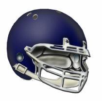 Navy Blue Football Helmet Ornament