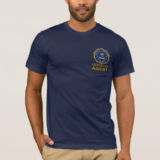 Navy blue FUGITIVE RECOVERY AGENT T shirt