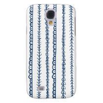 Navy Blue Fun Doodles Wedding Samsung Galaxy S4 Cover