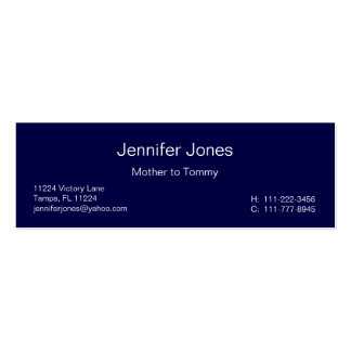 Navy Blue Geometric Calling Card Double-Sided Mini Business Cards (Pack Of 20)