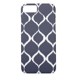 Navy Blue Geometric Ikat Tribal Print Pattern iPhone 7 Case