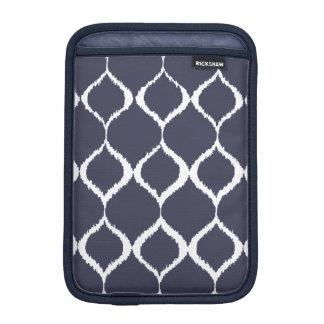 Navy Blue Geometric Ikat Tribal Print Pattern Sleeve For iPad Mini