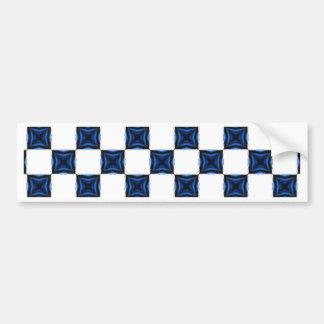 Navy Blue Geometric Seamless Square Checkered Bumper Stickers