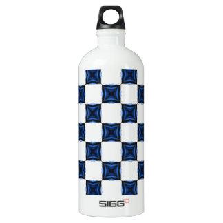 Navy Blue Geometric Seamless Square Checkered SIGG Traveler 1.0L Water Bottle