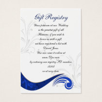 """navy blue"" Gift registry  Cards"