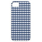 Navy Blue Gingham iPhone SE/5/5s Case