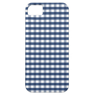 Navy Blue Gingham iPhone SE/5/5s Case