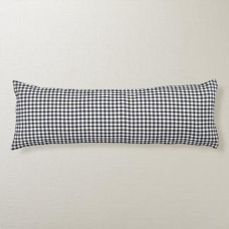 Navy Blue Gingham Pattern Body Pillow