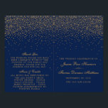 """Navy Blue &amp; Glam Gold Confetti Wedding Program<br><div class=""""desc"""">The navy blue &amp; glam gold confetti wedding collection is perfect for any couple planning a romantic wedding celebration. The design features a chic navy blue background with glam gold confetti which is truly stunning and perfect for any special event. The wording incorporates the same gold color of the design...</div>"""