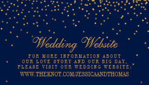 Navy blue business cards templates zazzle navy blue glam gold confetti wedding website business card colourmoves Gallery
