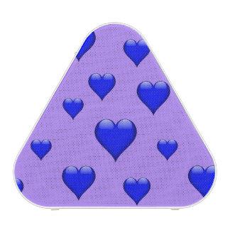 Navy Blue Glass Heart Customizable Bluetooth Speaker