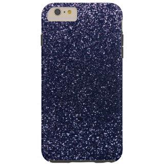 Navy blue glitter tough iPhone 6 plus case