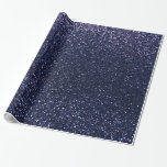 Navy blue glitter gift wrapping paper