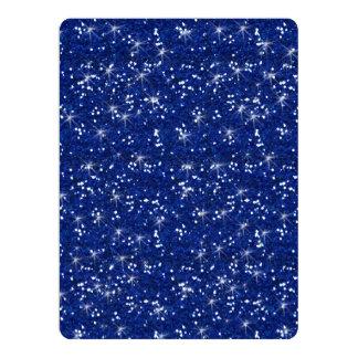 Navy Blue Glitter Printed Card