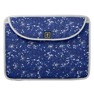 Navy Blue Glitter Printed Sleeve For MacBook Pro