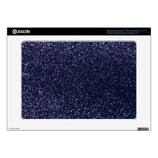 Navy blue glitter samsung chromebook decals
