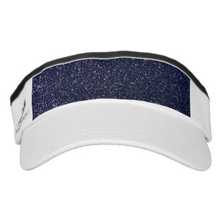 Navy blue glitter headsweats visors