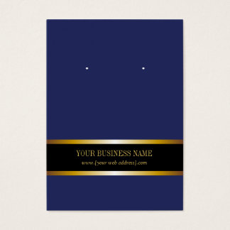 Navy Blue Gold Black Custom Earring Card