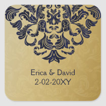 """navy blue"" gold envelope seal"