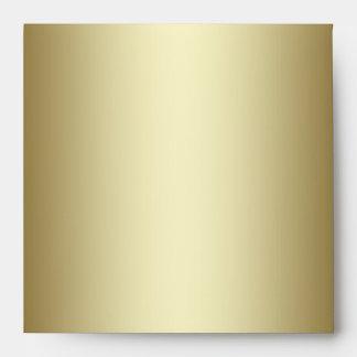 Navy Blue Gold Linen Envelopes