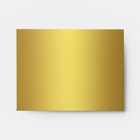 Navy Blue Gold Linen RSVP Envelopes