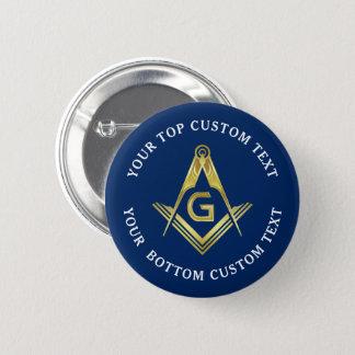 Navy Blue Gold Masonic Buttons   Freemason Pins