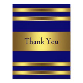 Navy Blue Gold Thank You Card Custom Invite
