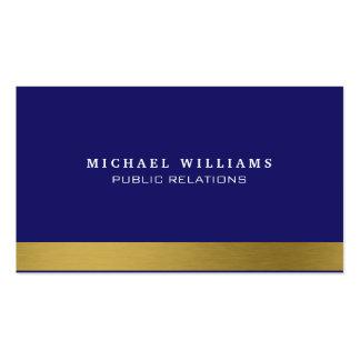 Navy blue Golden Gold Classic Simple Horseman Business Card