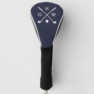 Navy Blue Golf Clubs Monogram Golf Head Cover