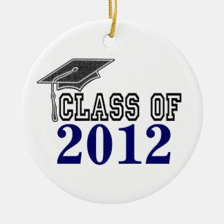 Navy Blue Graduating Class of 2012 Ornament