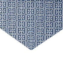 Navy Blue Greek Key Pattern Tissue Paper