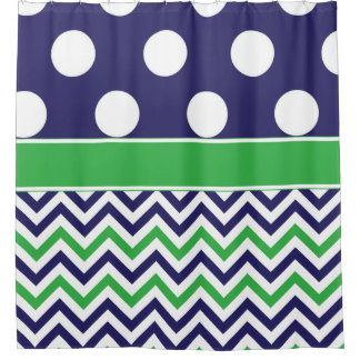Navy And Green Shower Curtains Zazzle