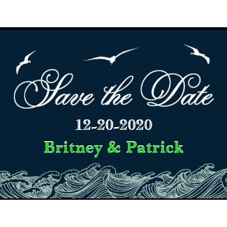 Navy Blue & Green Nautical Wedding Save the Dates zazzle_postcard