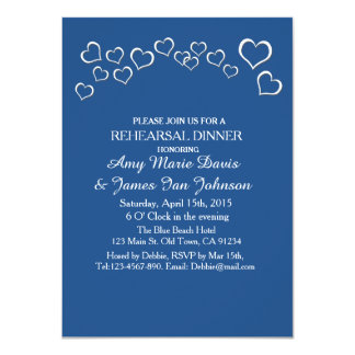 Navy blue heart confetti wedding design bhp card