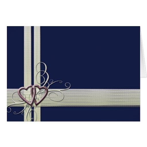 Navy blue heart design card