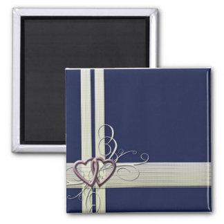 Navy Blue Heart Magnet