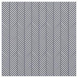 Navy Blue Herringbone Fabric